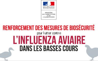 Renforcement des mesures de biosécurité